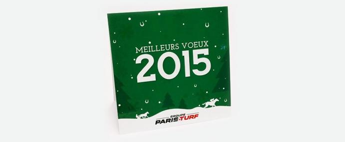 Carte de Voeux 2015 / Groupe Paris-Turf