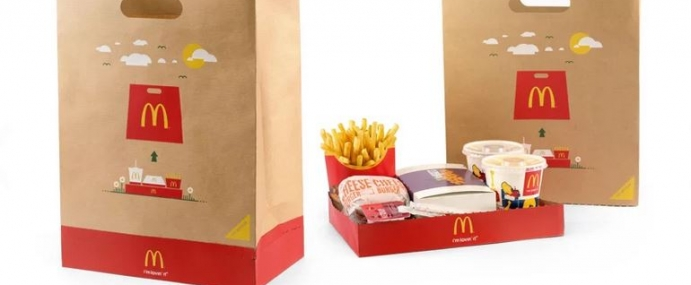 McDonalds Bag tray